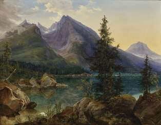View of the Hintersee, to the Watzmann