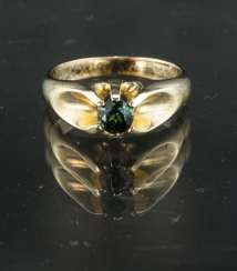 Exceptional ladies ring with tourmaline, yellow gold 585, very good.