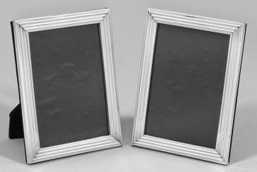 Pair of small table picture frames