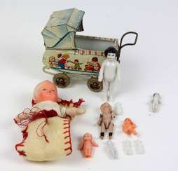 Dolls and cars
