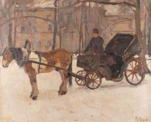 RUSSIAN PAINTER Active at the beginning of 20. Century-drawn Carriage in the Winter