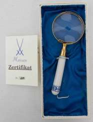 MEISSEN PORCELAIN MAGNIFYING GLASS
