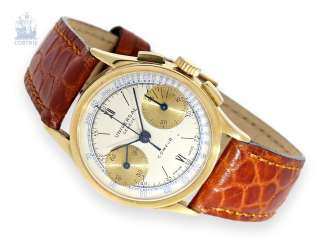 "Watch: Sought-after vintage Chronograph, Universal Geneve, ""Compur"",Ref.5923 in 18K Gold, 40s"