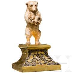 Sculpture of a bear with two young animals, probably Russia, 18th / 19th century century