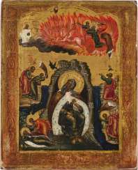 ICON WITH THE PROPHET ELIASH WITH HIS FIERY ASCENSION Russia