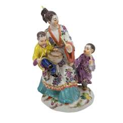 MEISSEN figure group 'Japanese woman with children', 20th century