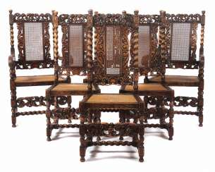 Set of 6 historicism-chairs Alsace
