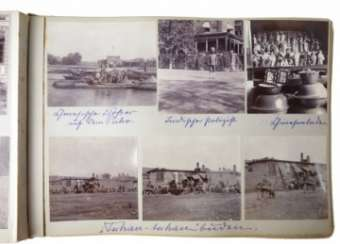 Photo album of trip to China of the German envoy, Dr. Paul Eckardt 1902/03.