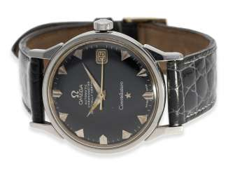 Watch: rare Omega Constellation Automatic chronometer with black dial, reference 14902 62 SC, 1962