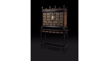 Cabinet in marquetry of ivory, bone and ebonized wood