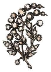 Second Empire flower brooch with diamonds
