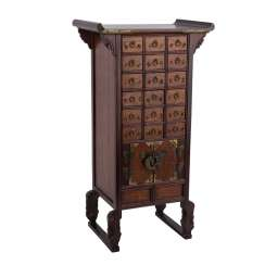 Small Apothecary Cabinet made of cedar wood. THAILAND, 20. Century.