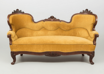 Antique chaise longue of the nineteenth century,