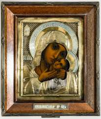 Rare art-Nouveau-style Marine-icon of the mother of God Kasperovskaja