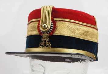Romania: officer's peaked cap - reign of King Carol I (1881-1914).