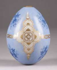 EASTER EGG WITH FLORAL BOUQUETS AND GOLD ORNAMENTS Russia