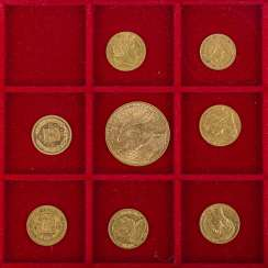 Gold solder fine historical coins approx. 70 g, consisting of USA 20 Dollars 1922