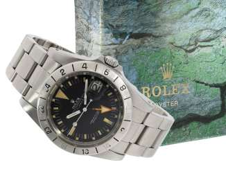 Watch: sought-after vintage Rolex mens watch, Rolex 1655 Explorer II, 1972, 1. Series, the so-called