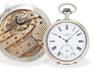 Pocket watch: very rare apprentice watch, K. u. K. technical school for watchmaking, Karl stone No. 1915