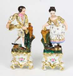 Biedermeier Pair Of Figures