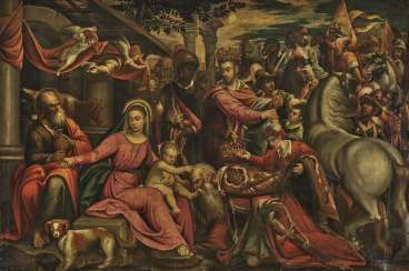 Italo-Flemish - The Adoration of the Magi, mid-16th century