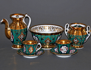 Tea set tete-a-tete factory brothers Kulinich