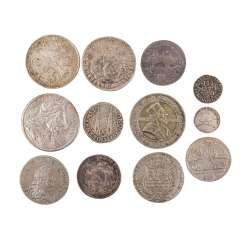 Exciting 13 piece mixed lot of coins, 17./18. Century. -