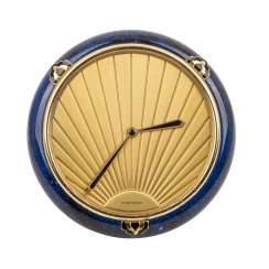 "CARTIER TISCHUHR ""Clock Lapis Art Deco"""