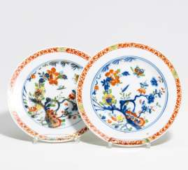 Two plates with Asian decor