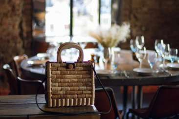 A stylish, exclusive bag made of wine cork and handmade leather for every day and any season.