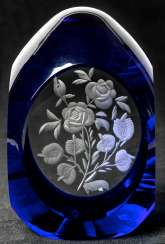 Very rare and heavy Easter egg made of glass