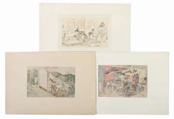 3 artist of the 18th century./19. Century Japan