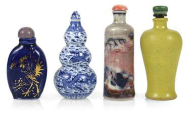 Four Snuffbottles, China,