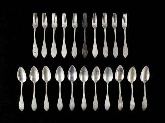 ELEVEN SPOONS AND TEN FORKS