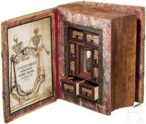 Secret poison Cabinet in the form of a book, historicism in the style of the 17th century. Century.