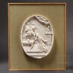 Very fine marble relief depicting a saint, Italy, late 17th century
