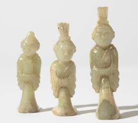 Three Chinese Jade figures