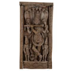 Relief-Carving Of The Image Of Lord Krishna. INDIA, 1. Half of the 20. Century.