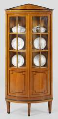 Biedermeier Corner Display Case Cabinet