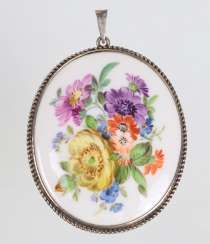 Meissen - large antique pendant with flowers