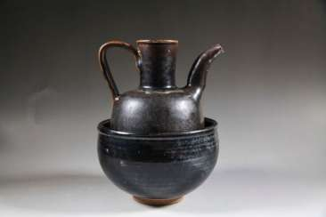 A SET OF WARMING WINE WARES YAOZHOU YAO SONG DYNASTY (960-1279)
