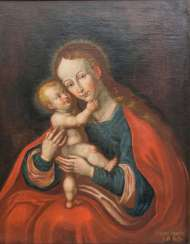 Madonna and Child, based on the Passau miraculous image Mariahilf by Lucas Cranach the Elder. Ä.