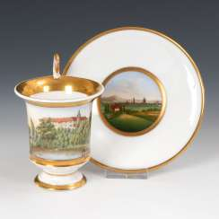 Cup with castle view.