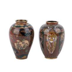 Two small Cloisonné-Vasen. JAPAN, Meiji-Zeit (1868-1912).