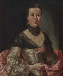 South German mid-18th century, ladies and gentlemen portrait