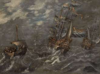 Dutch painter: ships to pieces