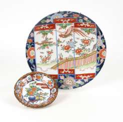 Wall plates and plate with braided edge - Imari