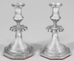 Pair Of Biedermeier Candelabra