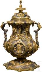 Part of the savings box, Vienna gold-plated, around 1870