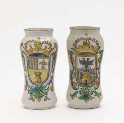 Two Albarelli, Talavera / Toledo, late 18th century